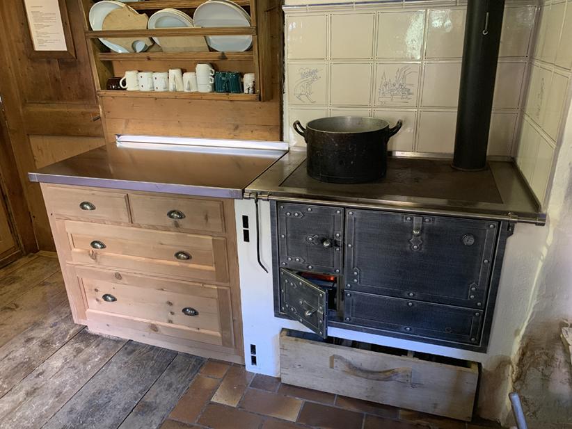 SCRE Hütte Ofen Holz Putzaktion