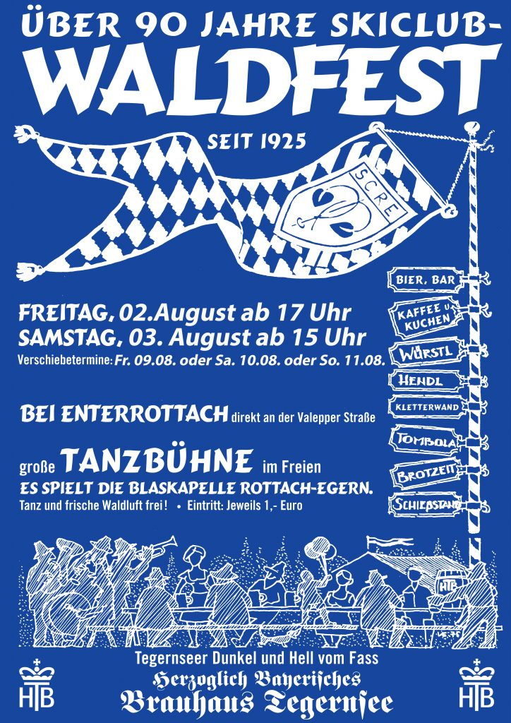 Plakat Ski-Club Waldfest Rottach-Egern 2019 Enterrottach