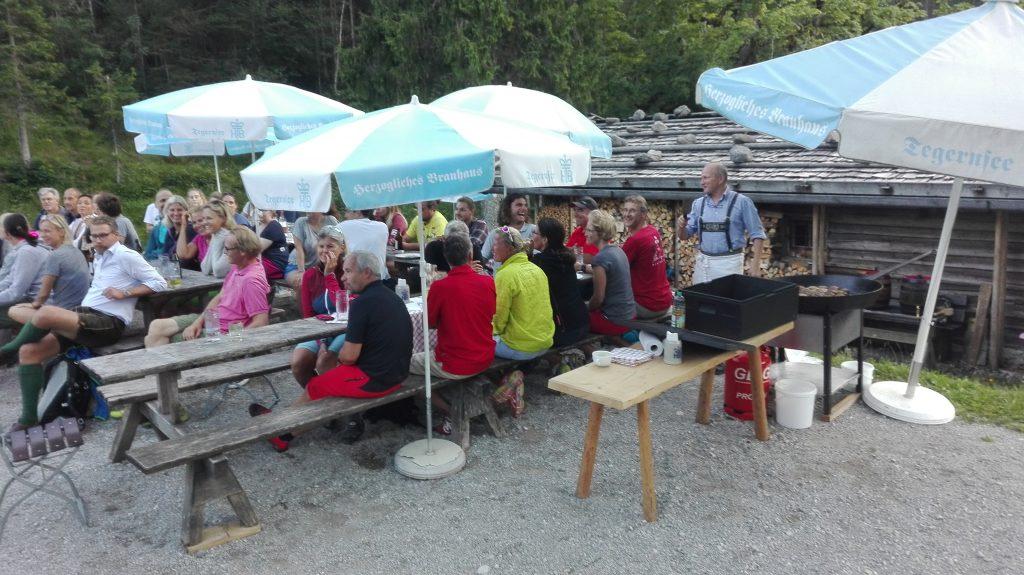 Ski-Club Rottach-Egern Mitarbeiter Waldfest Siebenhütten
