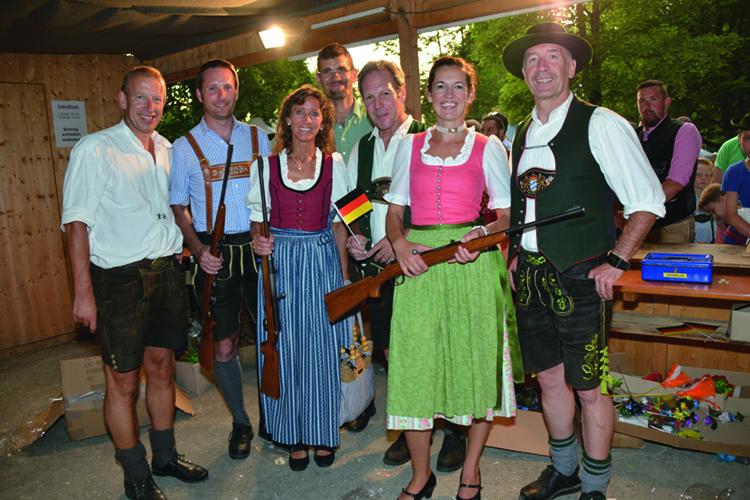 Ski-Club Rottach-Egern Waldfest 2016 Schießbude